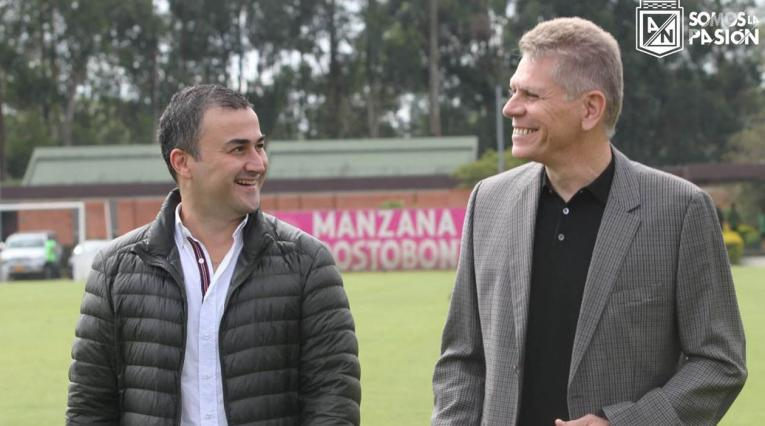 Juan David Pérez, presidente de Nacional y Paulo Autuori, nuevo técnico de Nacional