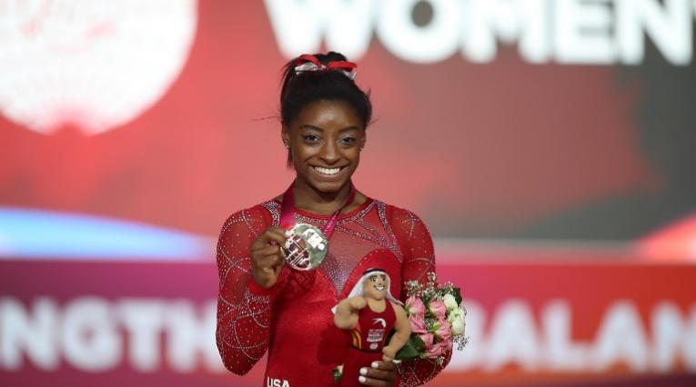 Simone Biles se llevó cuatro medallas de oro en los mundiales de Qatar