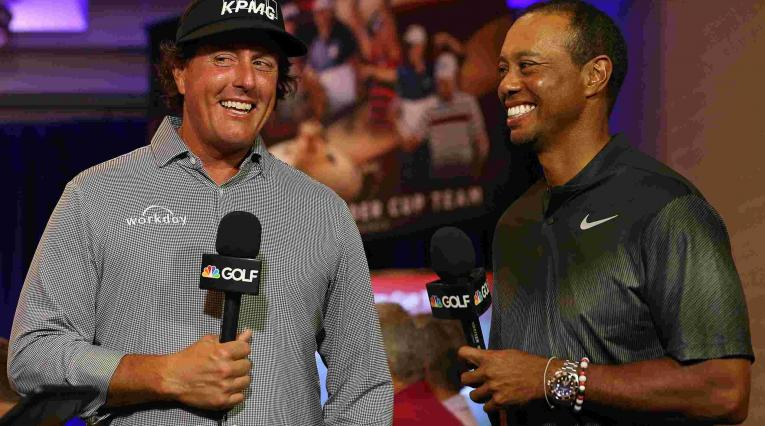 Tiger Woods y Phil Mickelson anuncian su match en Las Vegas