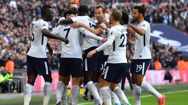 Tottenham Hotspur, celebrando un gol