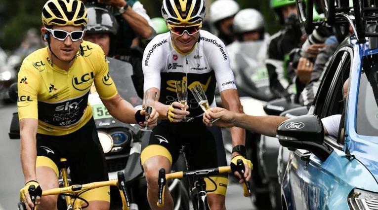 Geraint Thomas y Chris Froome, lideres del Team Sky en el último Tour de Francia