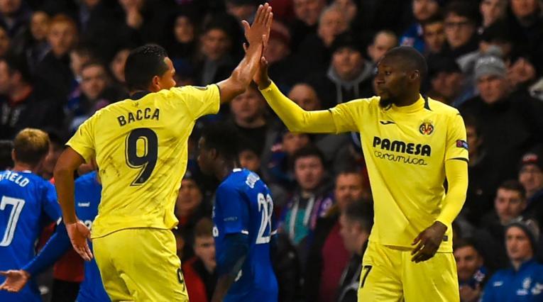 Carlos Bacca ingresó al minuto 72 del partido del Villarreal ante el Spartak de Moscú
