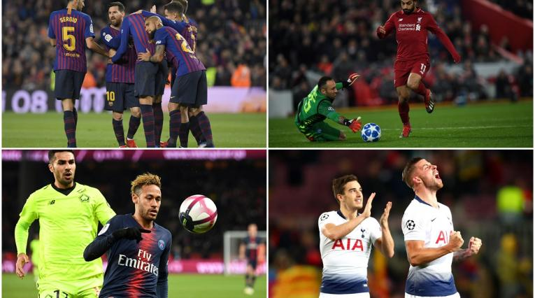 Barcelona, Liverpool, PSG y Tottenham * Champions League 2018-2019