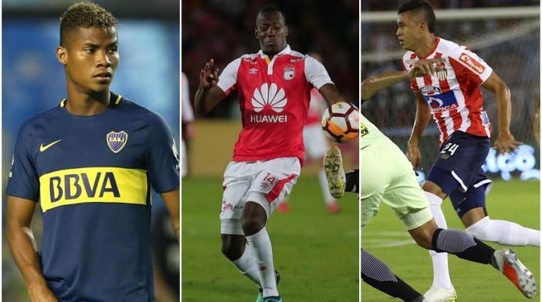 Wilmar Barrios, Baldomero Perlaza y Víctor Cantillo