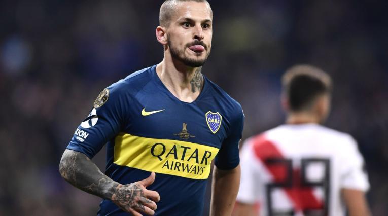 Dario Benedetto, delantero de Boca Juniors, así celebró su gol.