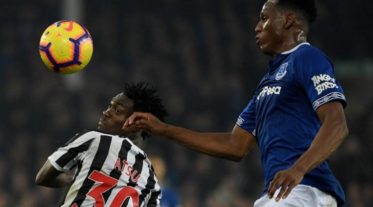 Everton vs New Castle, Yerry Mina