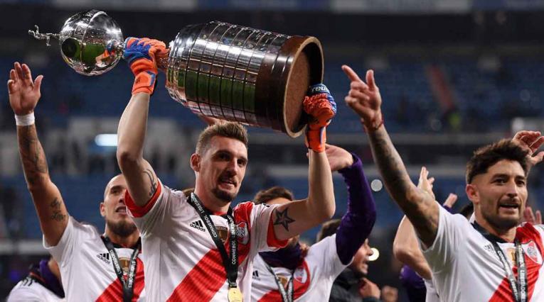 Franco Armani, campeón de Copa Libertadores con River Plate