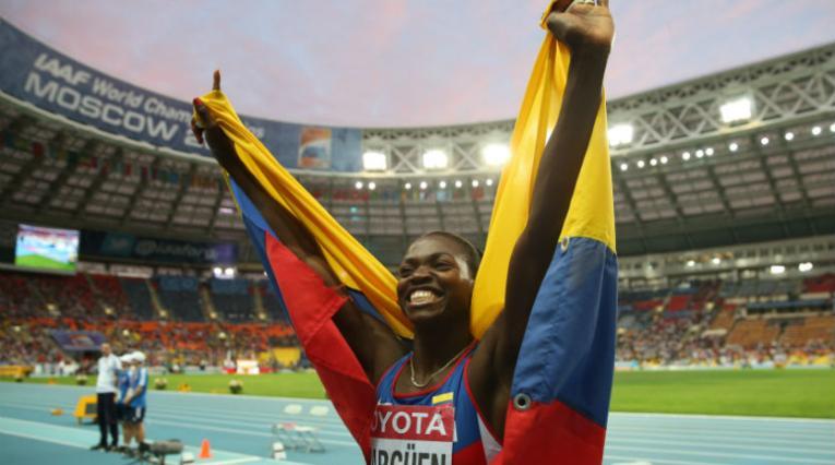 Caterine Ibargüen ganó el triple salto en el Mundial de Luzhniki