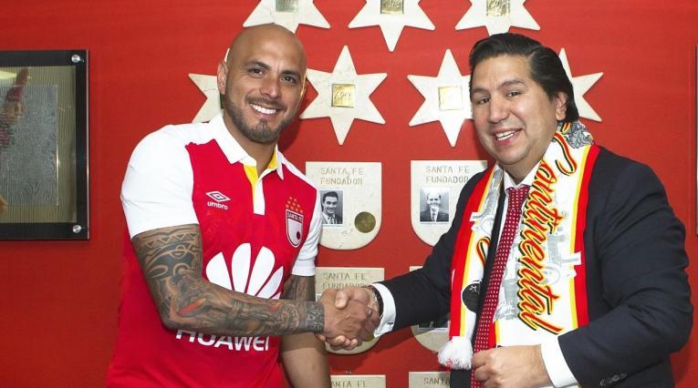 Ómar Pérez luego de ser anunciado su regreso a Independiente Santa Fe