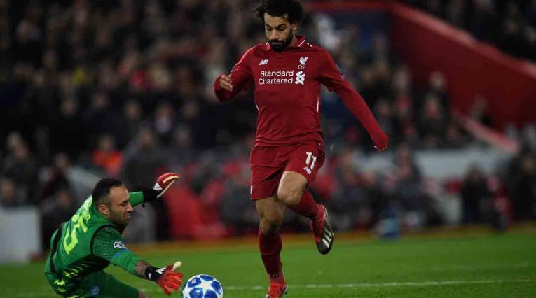 David Ospina y Mohamed Salah