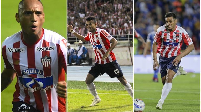 Jarlan Barrera, Luis Díaz y Teófilo Gutiérrez - Junior 2018