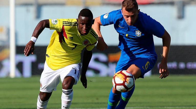 Colombia y Brasil empataron 0-0 en la fase de grupos del Sudamericano sub-20