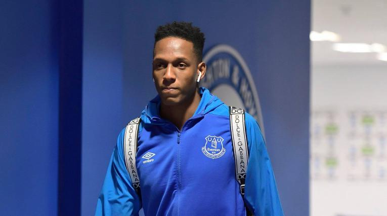 Yerry Mina volvió a ser suplente con el Everton de la Premier League