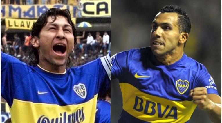 Jorge 'Patrón' Bermúdez y Carlos Tévez
