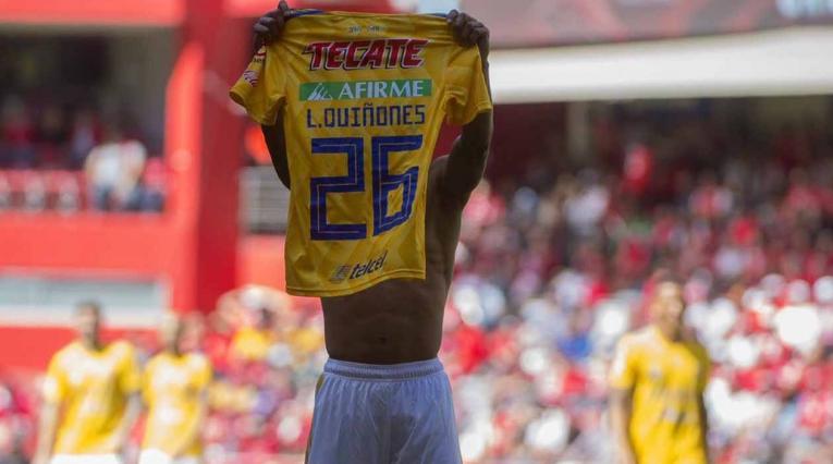 Luis Quiñones, delantero de Tigres de México