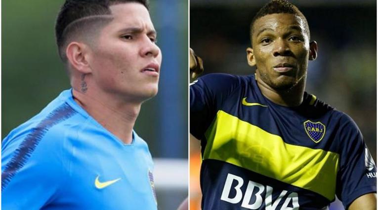 Campuzano y Fabra, jugadores colombianos que juegan en Boca Juniors