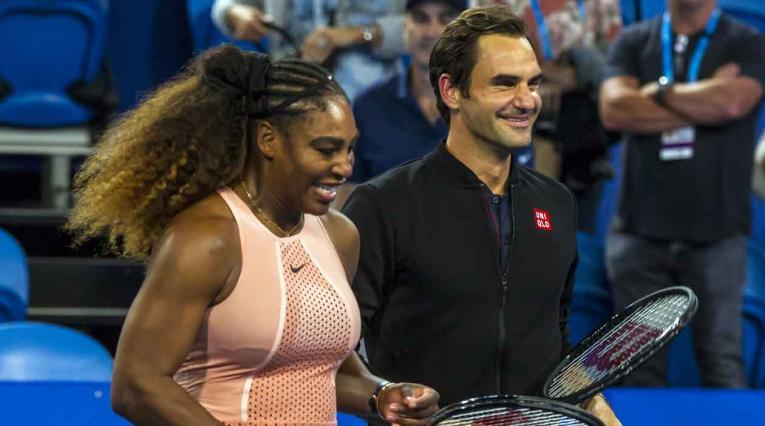 Serena Williams y Roger Federer