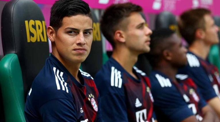 James Rodríguez en el Bayern Munich