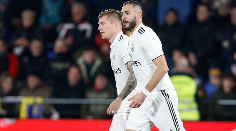 Toni Kroos y Karim Benzema