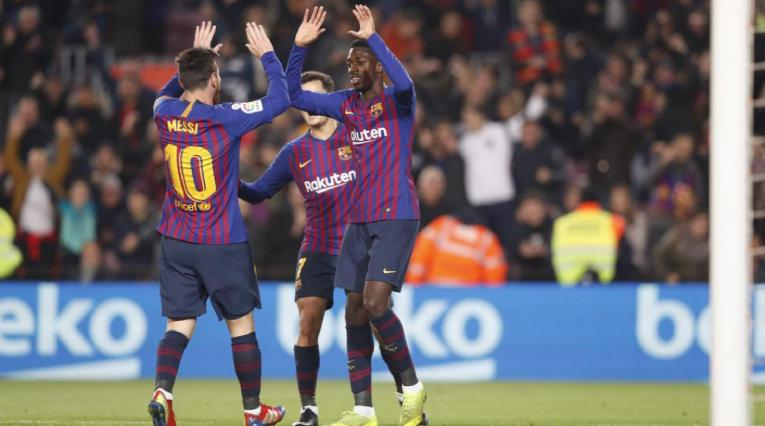 Messi, Coutinho y Dembélé