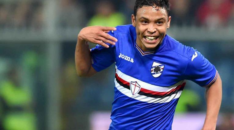 Luis Fernando Muriel jugando para la Sampdoria de Italia