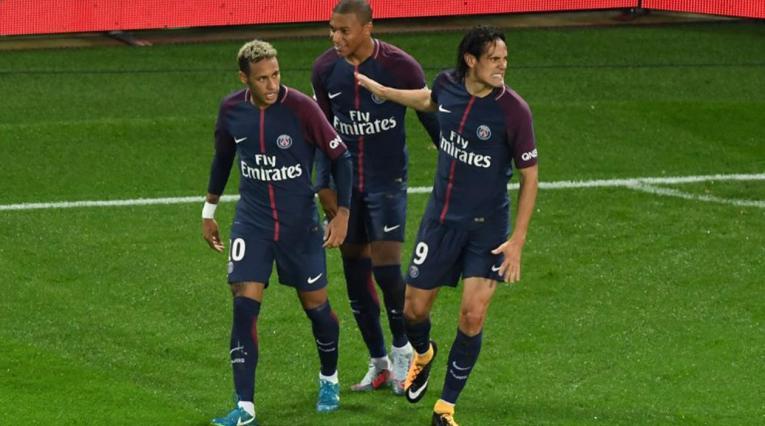 Neymar, Cavani y Mbappé