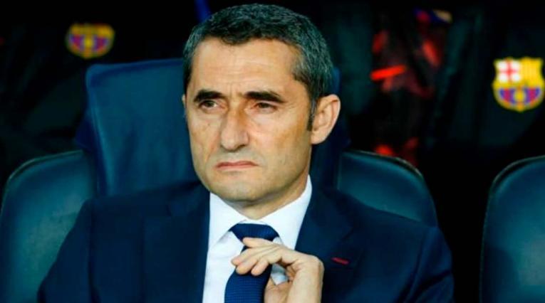 Ernesto Valverde, técnico del Barcelona, ni dio pistas sobre su continuidad