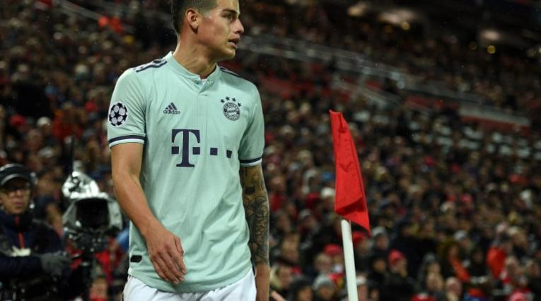 James Rodríguez, volante colombiano del Bayern Munich