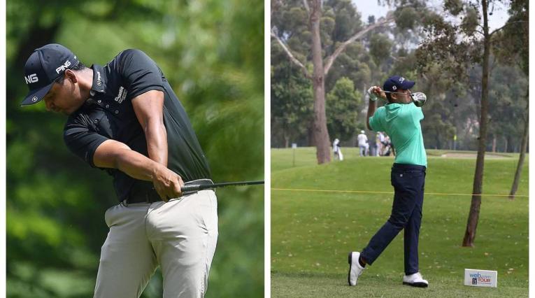 Juan Sebastián Muñoz y Ricardo Celia, golfistas colombianos