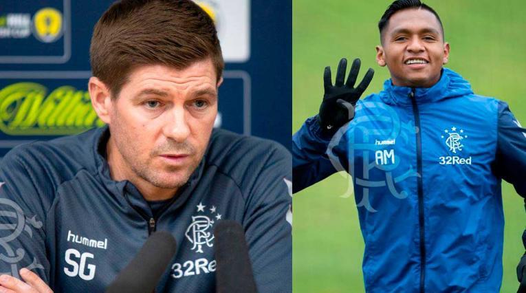 Alfredo Morelos y Steven Gerard, protagonistas con el Glasgow de Escocia