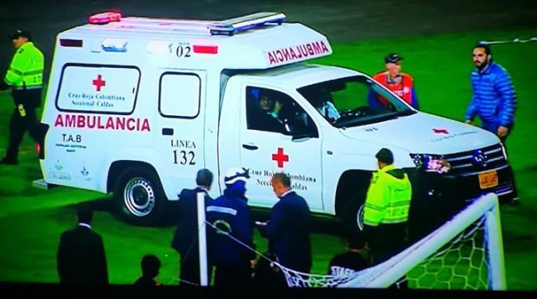 Ambulancia, Once Caldas vs Deportivo Santaní