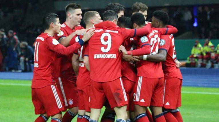 Bayern Múnich, jugadores celebrando un gol