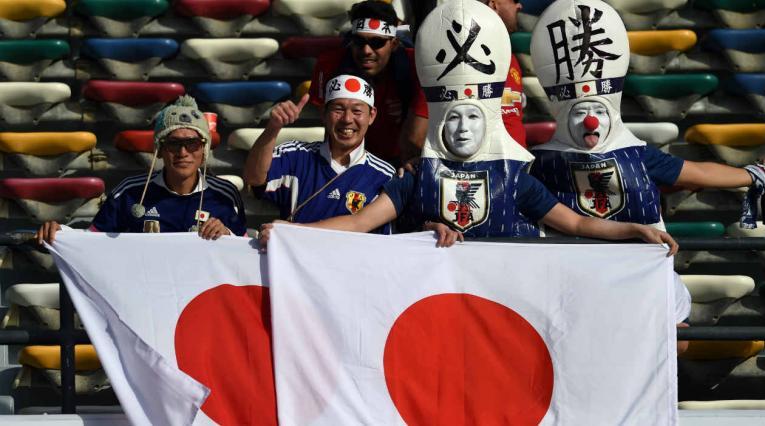 Hinchas de Japón en la Copa Asia