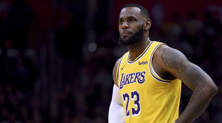 LeBron James, jugador de Los Ángeles Lakers