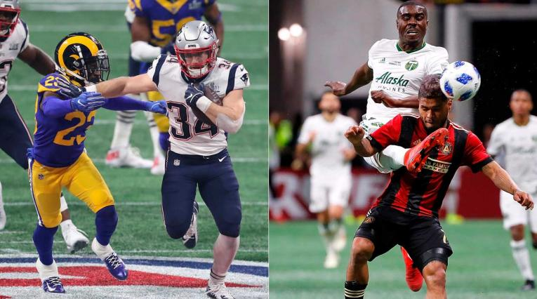 La final del Super Bowl 2019, versus la final de la MLS entre Atlanta y Portland