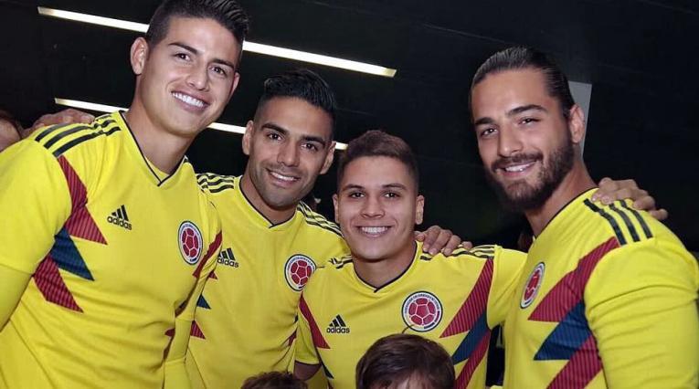 Falcao, James, Quintero y Maluma