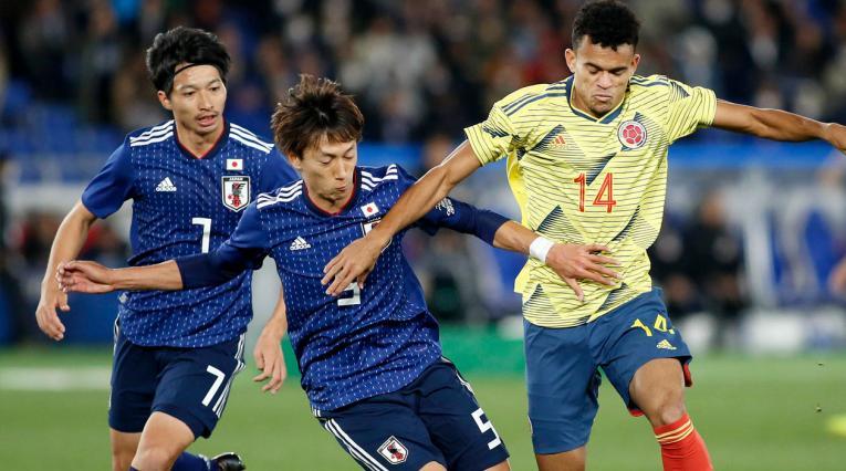 Luis Díaz debutó con Colombia; ingresó en el segundo tiempo ante Japón.