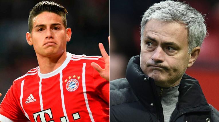 James y Mourinho podrían coincidir en el Bayern Munich.