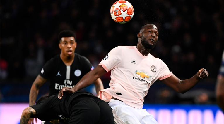 Romelo Lukaku, la figura del Manchester United ante el PSG.