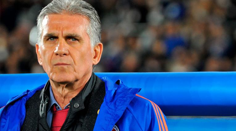 Carlos Queiroz presentó su primera alineación como técnico de Colombia.