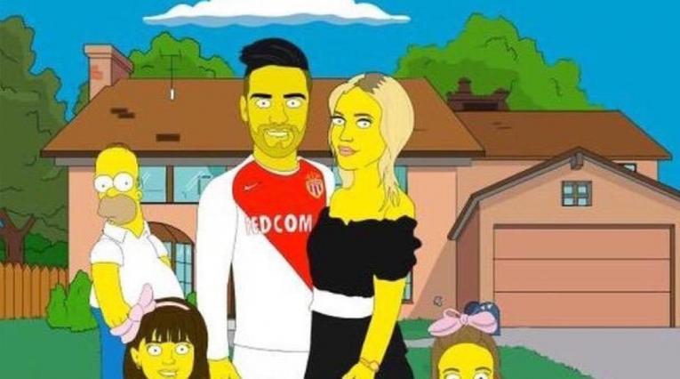 Falcao García, modo Simpsons