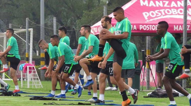 Atlético Nacional, jugadores entrenando 2019