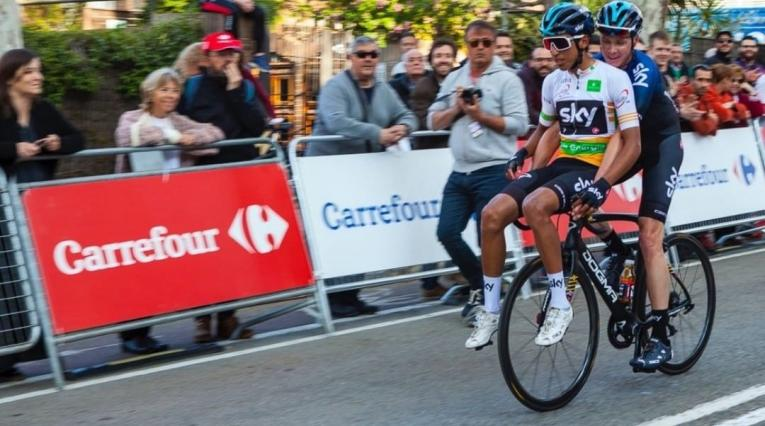 Egan Bernal y Chris Froome, ciclistas del Sky Team
