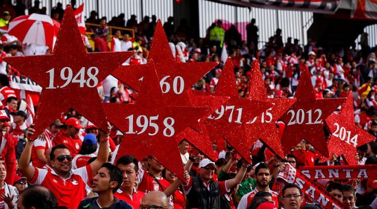 Hinchas de Independiente Santa Fe