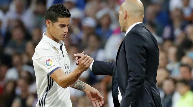 James Rodríguez y Zidane en el Real Madrid