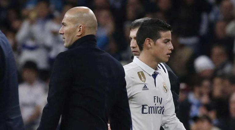 Zidane - James, en el Real Madrid