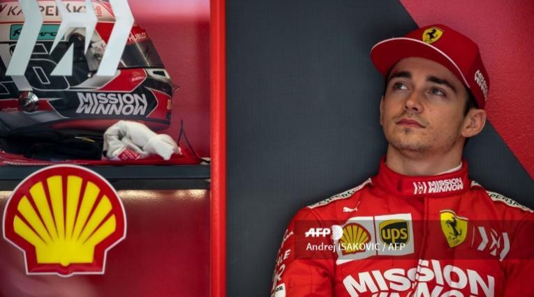Caharles Leclerc, piloto de Ferrari