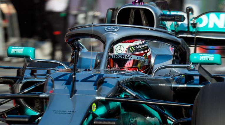 Lewis Hamilton, actual campeón de la Fórmula 1, en el Gran Premio de Australia