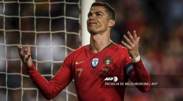 Cristiano Ronaldo en el partido de Portugal frente a Serbia en las eliminatorias