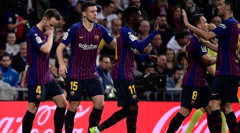 Ivan Rakitic celebra el gol que le dio la victoria a Barcelona en el último clásico ante Real Madrid